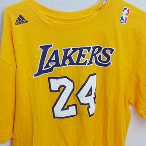 Adidas Lakers 24 yellow t-shirt